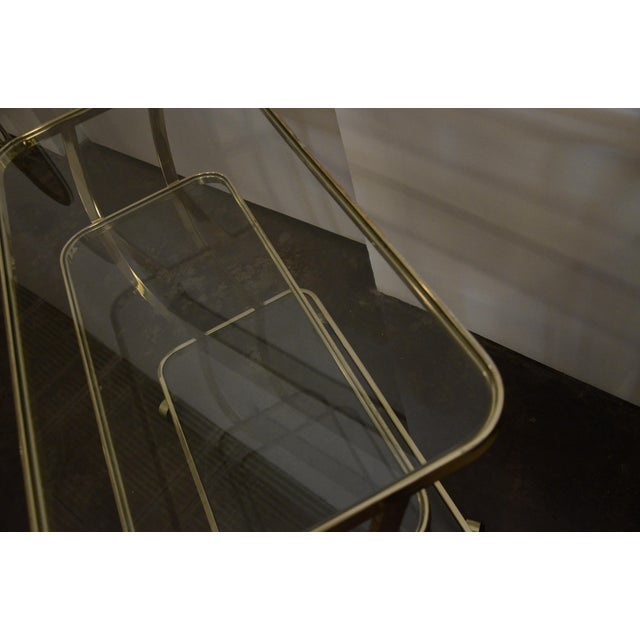 DIA Three-Tier Brass and Glass Bar, Drinks, Tea or Service Cart /Trolley - Image 9 of 11