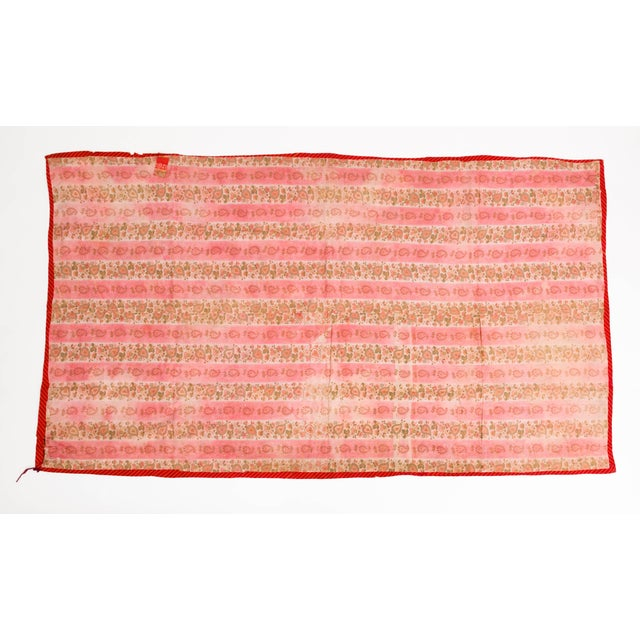 Magenta Late 19th Century Uzbekistan Tribal Silk Ikat Panel For Sale - Image 8 of 11