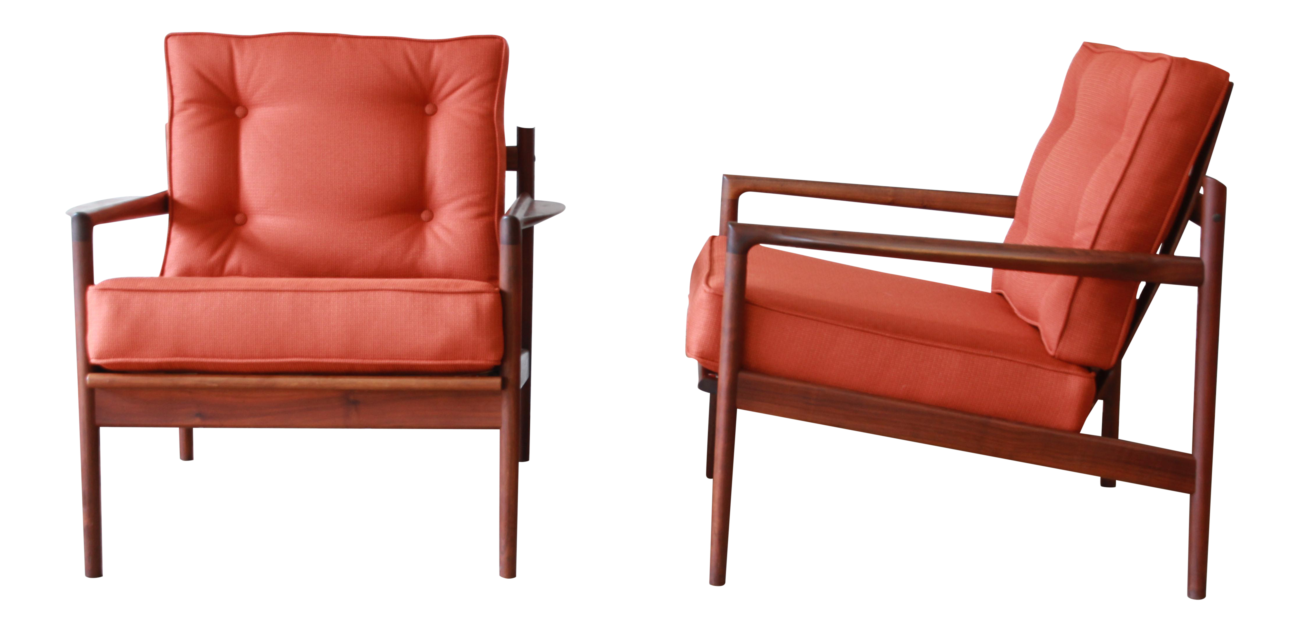 Attrayant Danish Modern Picket Back Lounge Chairs By Ib Kofod Larsen For Selig, A Pair