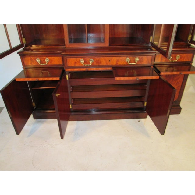 Traditional 1940s Vintage China Cabinet by Schmieg and Kotzian For Sale - Image 3 of 13