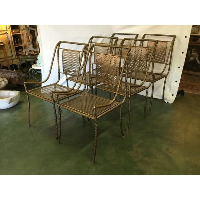 Gilt Metal Chairs - Set of 6 For Sale - Image 13 of 13