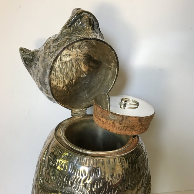 Cork Italian Silver Plated Bear Wine Cooler For Sale - Image 7 of 12