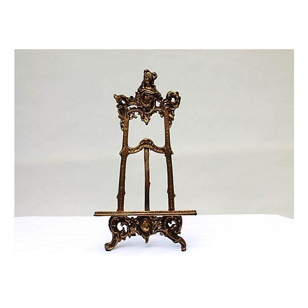 Art Nouveau Cast Brass Easel - Image 2 of 5