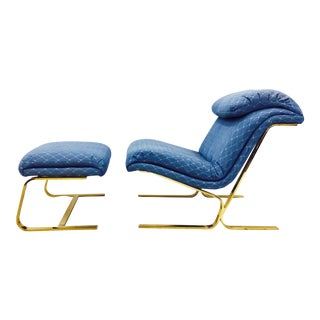Milo Baughman Lounge Chair & Ottoman Circa 1960-1970s For Sale