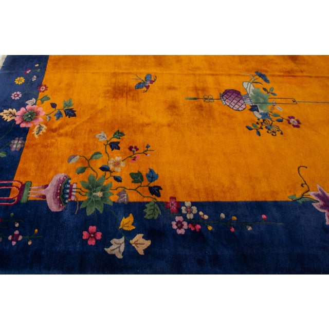 """Blue Apadana-Antique Chinese Rug, 8'10"""" X 11'10"""" For Sale - Image 8 of 10"""