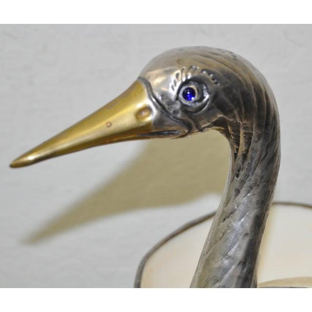 Silverplate & Shell Stork by Gabriella Binazzi - Image 6 of 7