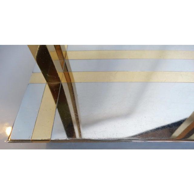 Metal 1970's Chrome & Brass Modernist Desk Lamp For Sale - Image 7 of 9