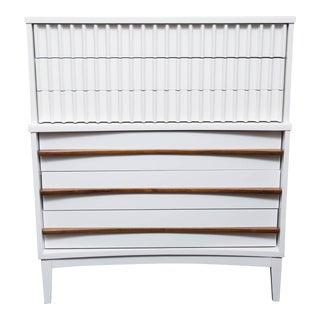 Mid-Century Modern Lacquered Highboy Dresser