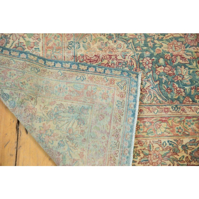 Vintage Distressed Kerman Carpet - 10' X 16' For Sale - Image 11 of 13