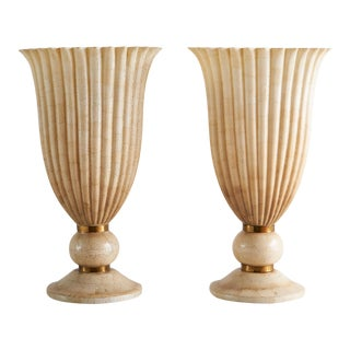 Pair of Maitland Smith Torchiere Table Lamps For Sale
