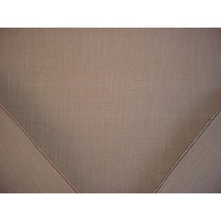 3y Casamance 34150214 Havane in Gris Dove Gray Textured Linen Upholstery Fabric For Sale