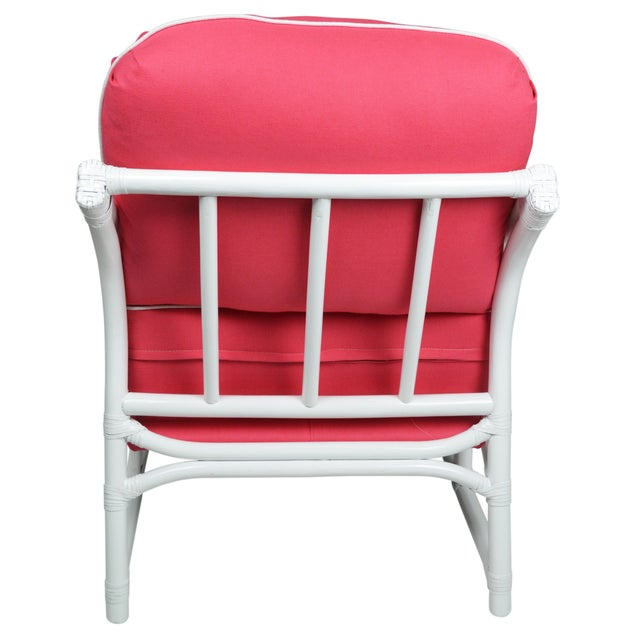 Ficks Reed Lilly White & Pink Chairs - a Pair - Image 4 of 7