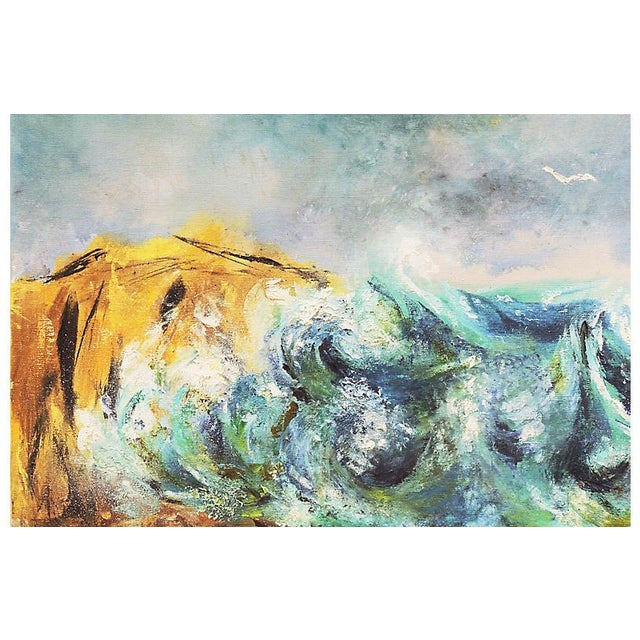 1960s Modernist Seascape, C. 1960 For Sale - Image 5 of 8