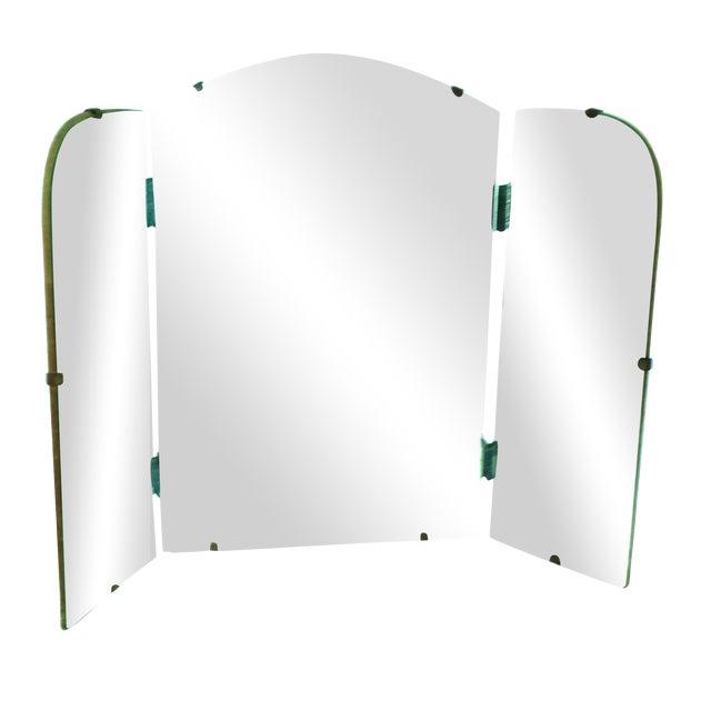Art Deco Era Vintage Tri-Fold Vanity Mirror - Image 1 of 7