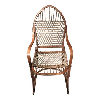 20th Century Adirondack Tubbs Snow Shoe Chair For Sale