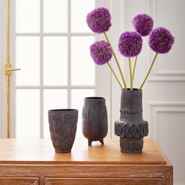 Brutalist Jonathan Adler Windowpane Brutalist Vase For Sale - Image 3 of 12