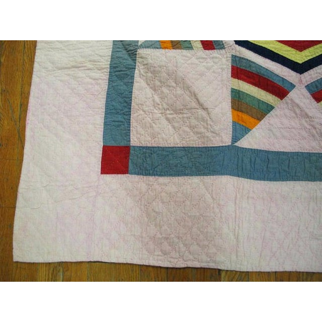 American Antique American Quilt Blanket For Sale - Image 3 of 6