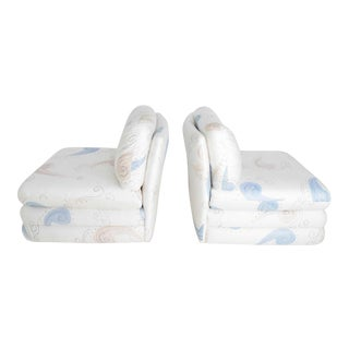 Pair of Milo Baughman Style Slipper Chairs