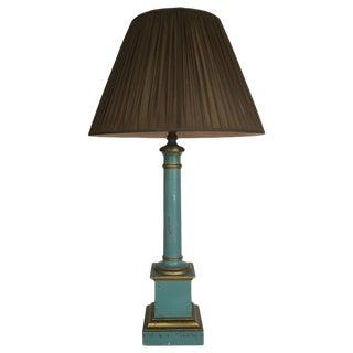 Vintage Blue & Gold Tole Lamp