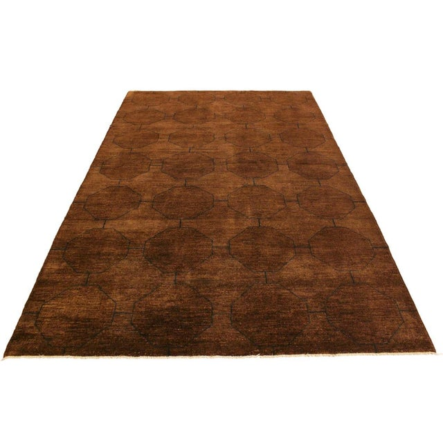 Overdyed Color Reform Donnie Brown/Blue Area Rug - 5'11 X 8'6 For Sale - Image 4 of 8