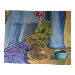 """Morning Coffee"" Original Still Life on Canvas For Sale"