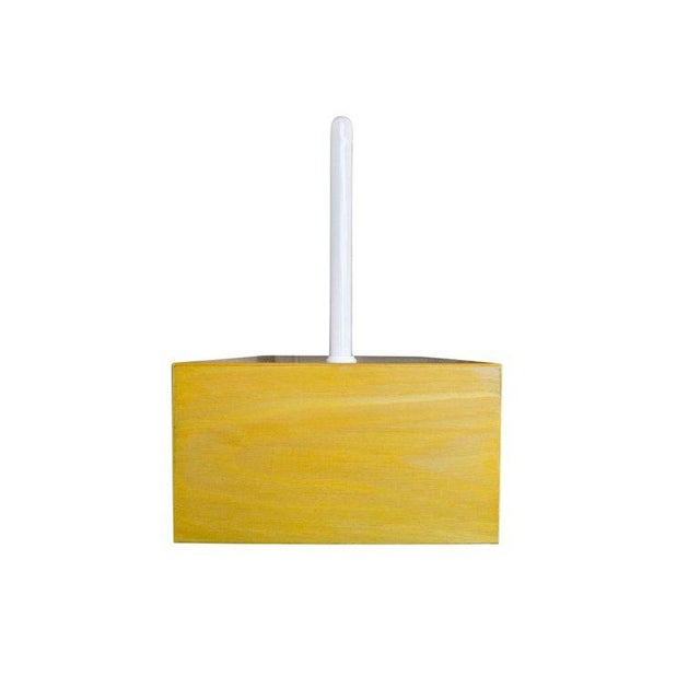 """Memphis Ettore Sottsass """"Pattica"""" Yellow Maple Table Lamp For Sale - Image 3 of 11"""