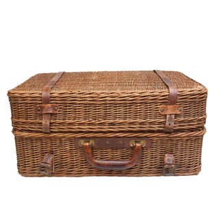 Wicker Picnic Basket For Sale
