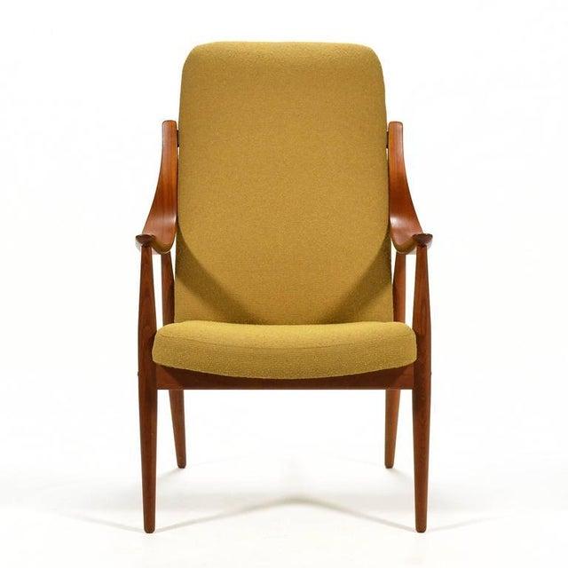 Danish Modern Peter Hvidt & Orla Mølgaard-Nielsen High Back Easy Chair For Sale - Image 3 of 11