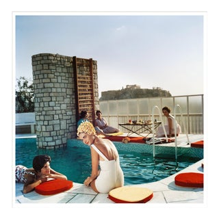 """Slim Aarons, """"Penthouse Pool,"""" July 1, 1961 Getty Images Gallery Framed Art Print For Sale"""