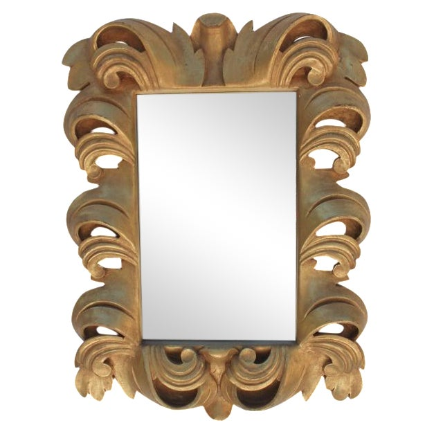 Dorothy Draper-Style Carved Wall Mirror - Image 1 of 11