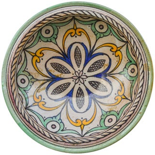 Moorish-Patterned Ceramic Wall Plate For Sale