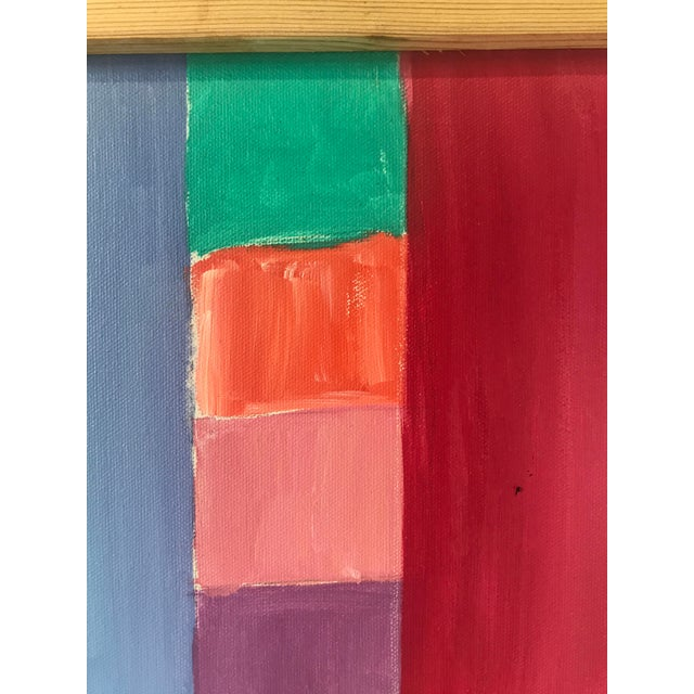 Abstract Original JoAnn Crisp Ellert Oil Painting on Canvas, 1990s For Sale - Image 3 of 9