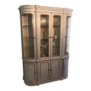 John Widdlcomb Italian Style Hand Painted Showcase Bookcase For Sale