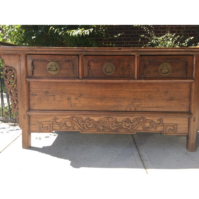Antique Carved Wood Console - Image 5 of 10