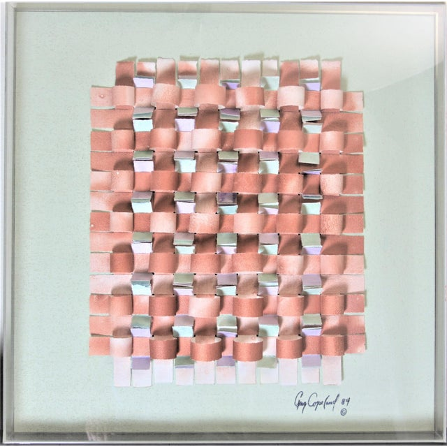 Mid-Century Modern Mixed Media Art in Lucite Box Frame Signed Greg Copeland For Sale - Image 9 of 13
