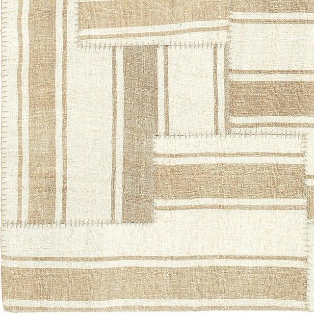 FJ Hakimian Mid 20th Century Vintage Kilim Composition Rug- 5′10″ × 6′ For Sale - Image 4 of 6