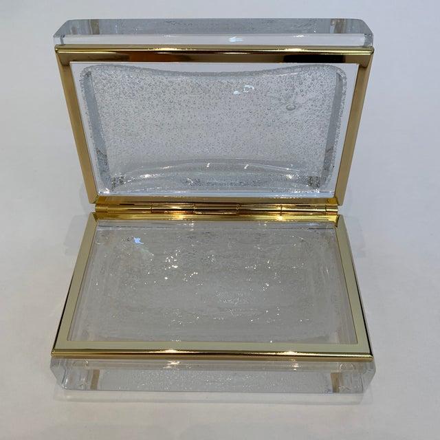 Italian 21st Century White Murano Crystal Jewel Box by Mandruzzato For Sale - Image 3 of 9