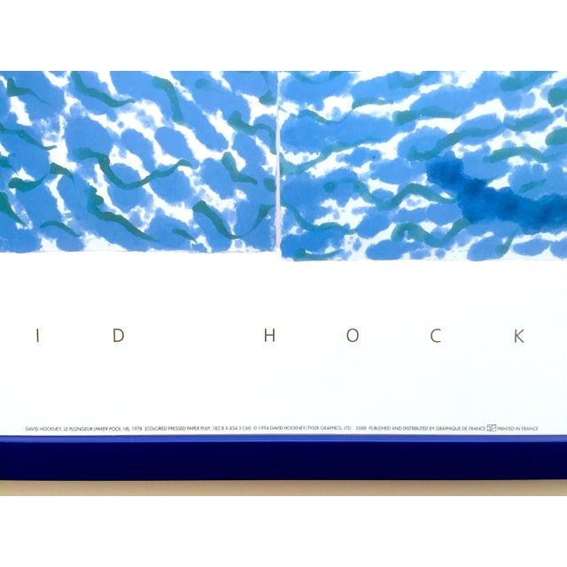 "David Hockney Rare Vintage 1994 Iconic Lithograph Print Large Framed Poster "" Le Plongeur ( Paper Pool 18 ) "" 1978 For Sale - Image 9 of 13"