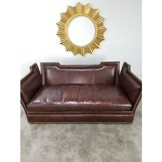 Original Leather Knole Sofa by Ferguson Copeland. They are 2 identical sofas in excellent condition. Very comfortable....