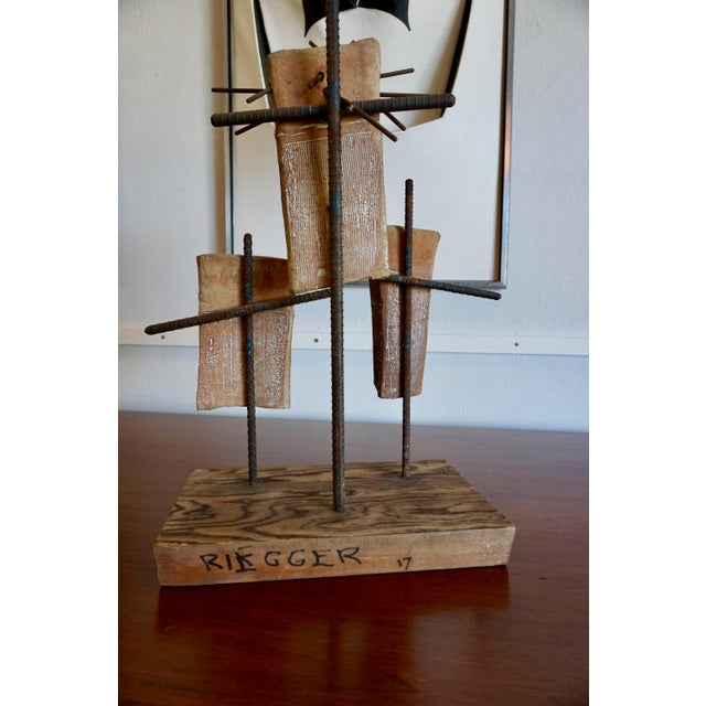 Hal Riegger Figurative Abstract Ceramic and Steel Sculpture For Sale In Palm Springs - Image 6 of 9