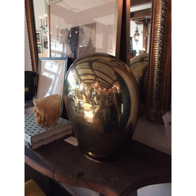 Contemporary Contemporary Italian Salviati Murano Gold Glass Lamp For Sale - Image 3 of 7