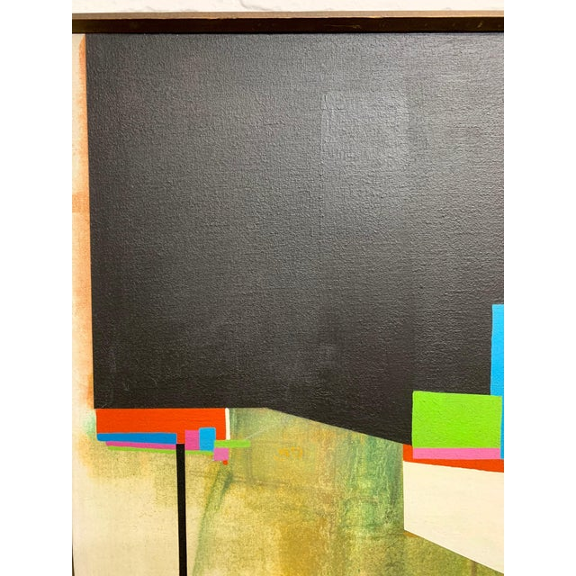 Canvas Modernist Geometric Painting, 1971 For Sale - Image 7 of 13