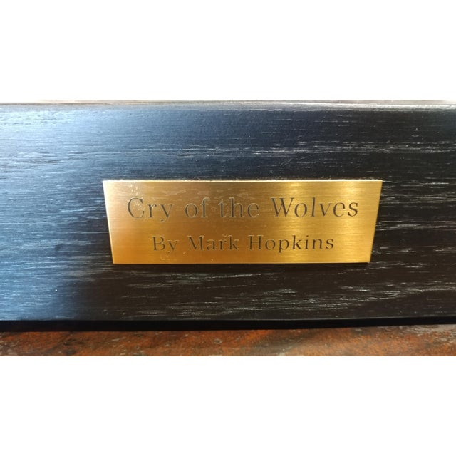 Black Mark Hopkins -Cry of the Wolves - Southwestern Bronze Sculpture For Sale - Image 8 of 10