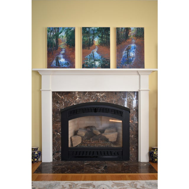 """Standing by Peaceful Waters"" Contemporary Triptych Painting by Stephen Remick - Set of 3 For Sale - Image 12 of 13"