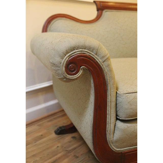 Vintage 1930's Duncan Phyfe Style Sofa For Sale - Image 10 of 13