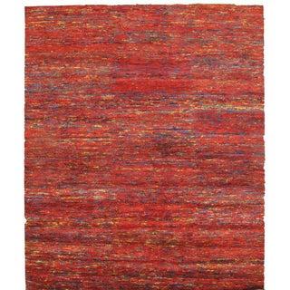 Pasargad Red Sari-Silk Modern Rug - 6′ × 9′ For Sale