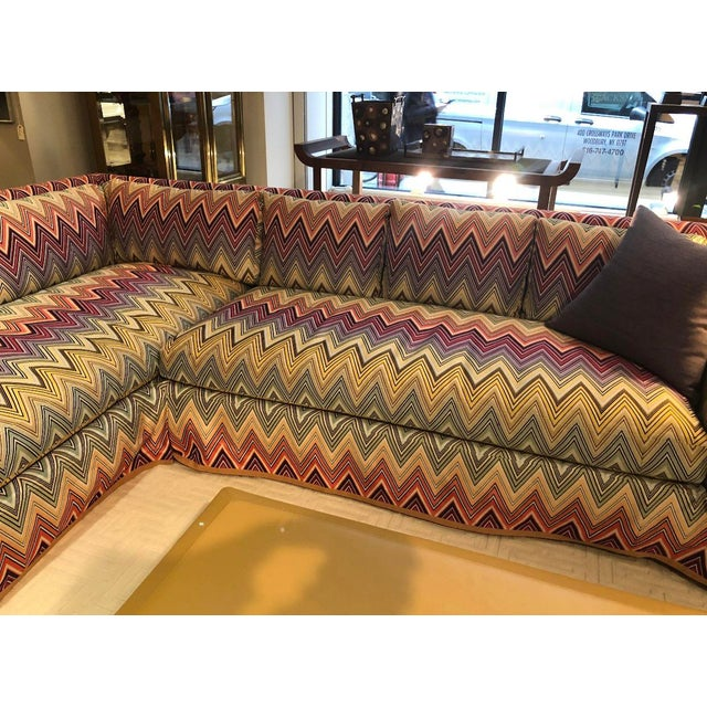 Designed by acclaimed designer Stephen Gambrel for a client, this is a totally unique, one-of-a-kind Missoni sofa. Made...