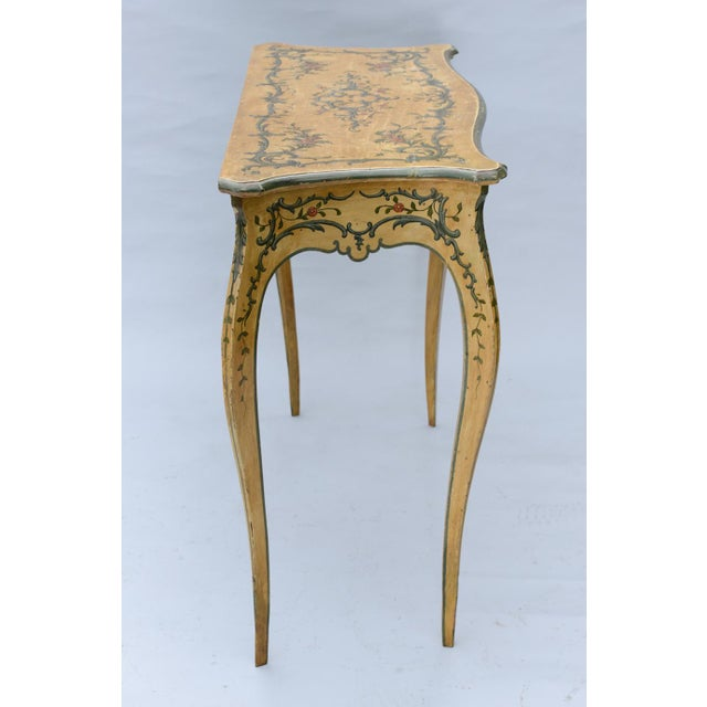 Hand Painted 19th Century Console Table For Sale - Image 9 of 11