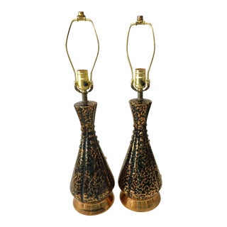 Hollywood Regency Glam Lamps - a Pair