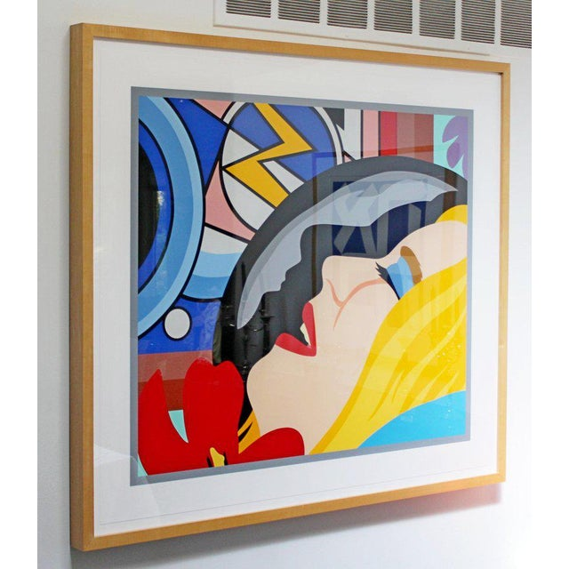 For your consideration is a marvelous, framed lithograph, signed by Tom Wesselmann and numbered 5/65. In excellent...